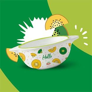Les petits déjeuners Zespri : 7 kiwis achetés = bol illustré gratuit