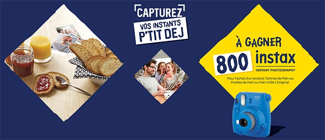 Tentez de gagner votre Instax Mini Fujifilm avec Brioche Pasquier
