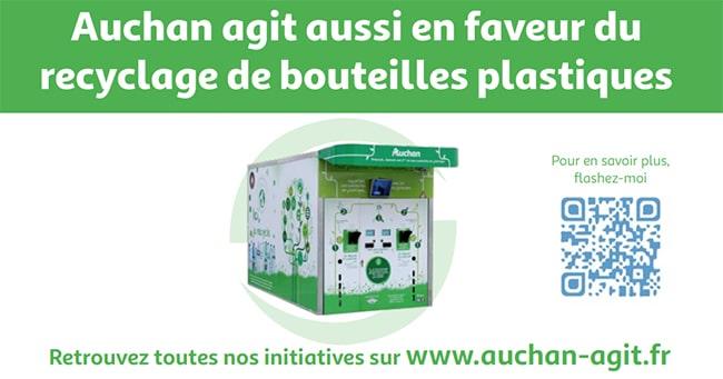 Auchan recycle les bouteilles en plastiques