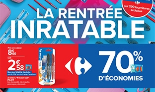 Promo Carrefour : Fourniture scolaires pas chères