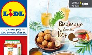 Catalogue Lidl «Bienvenue dans les îles» du 5 au 11 août 2020