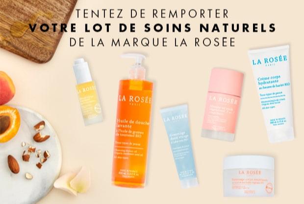 Lots de cosmétiques naturelles La Rosée à remporter avec Elle