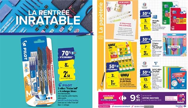 Petits prix, promos, remises fidélités Carrefour : fournitures d'école à moindres frais