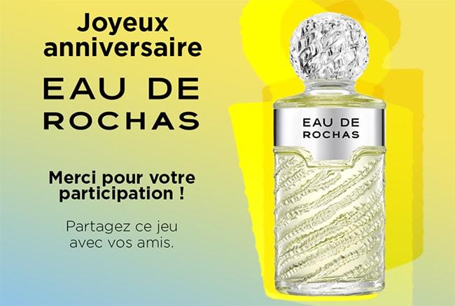 Tentez de gagner une eau de toilette Eau de Rochas avec Interparfums