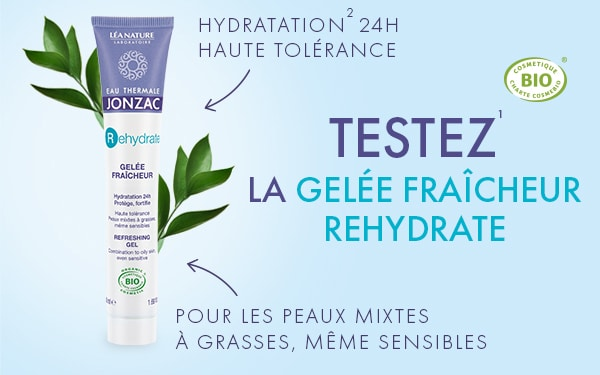 Tentez de tester gratuitement la Gelée Fraîcheur Rehydrate by Eau Thermale Jonzac