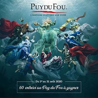 Jeu Familiscope : 60 entrées au Puy du Fou à gagner
