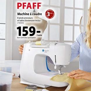 Lidl : Machine à coudre Pfaff pas chère