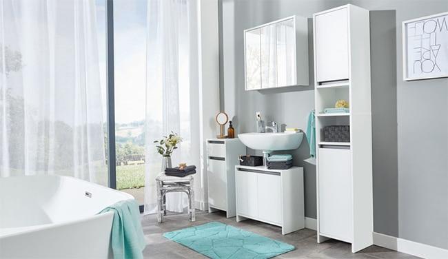 Ensemble de 4 meubles de salle de bain Livarnoliving à 130€ chez Lidl