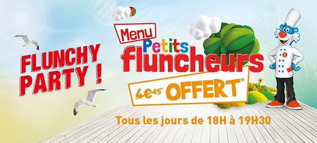 Menu enfant Flunch gratuit par tranche de 7,95€ d'achat