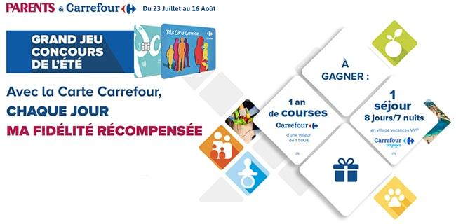 Tentez de gagner un séjour ou un an de course chez Carrefour avec Parents