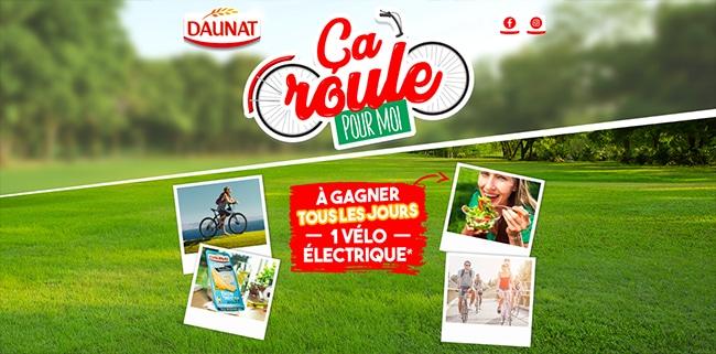 Tentez de remporter un vélo électrique de chez Decathlon avec Daunat