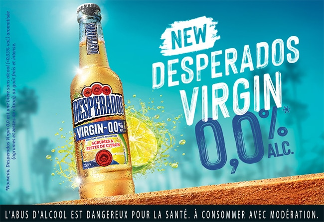 tester gratuitement la bière sans alcool Desperados Virgin