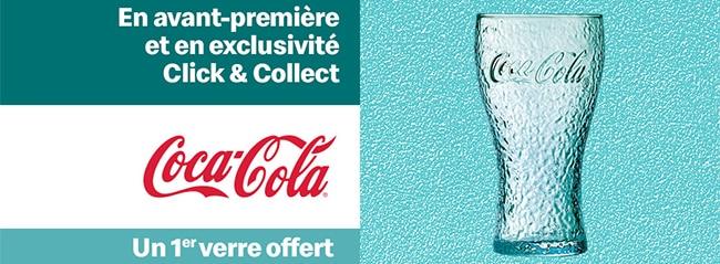 Verre Cpca-Cola exclusif Click & Collect McDo