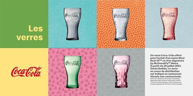 verre Coca-Cola 2021 offerts chez Mcdo