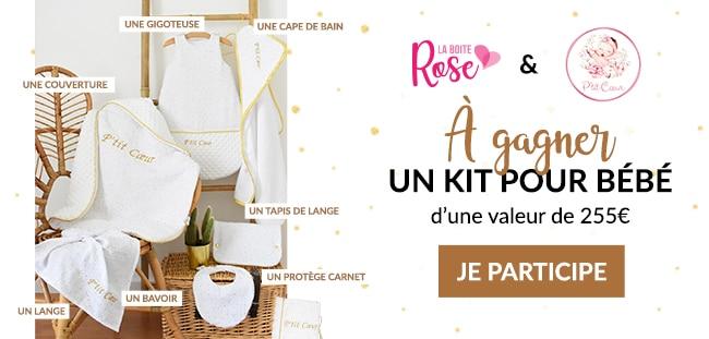 Tentez de gagner un kit naissance P'tit Cœur avec La Boîte Rose