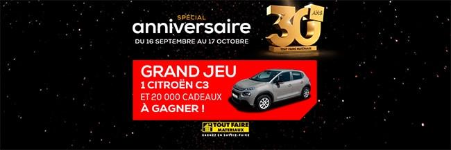 Tentez de gagner une Citroën C3 ou un cadeau au jeu Tout Faire