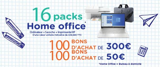 Packs Home Office et 35'000€ de bons d'achat à gagner