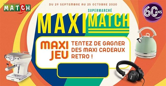Tentez de remporter une dotation rétro avec Maxi Match
