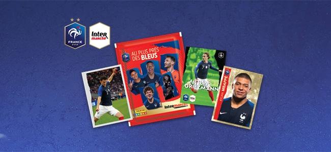 Cartes Panini foot Les Bleus d'Intermarché