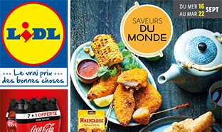 Catalogue Lidl Saveurs du monde du 16 au 22 septembre 2020