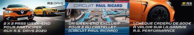 Tentez de gagner un week-end ou des pass pour le Renault Sport Day
