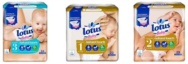 Testez gratuitement les produits Lotus Baby Natural Touch avec Aufeminin
