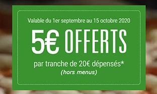 Restaurants Del Arte : Bon de 5€ offerts