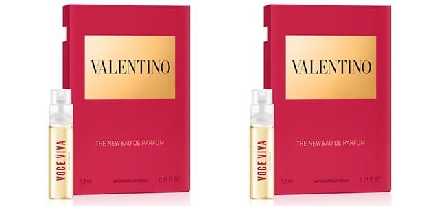 Recevez votre dose d'essai du parfum Voce Viva by Valentino