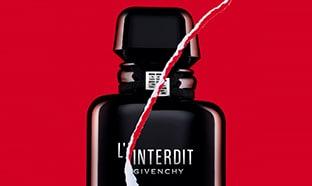 Échantillons gratuits du parfum L'Interdit Intense de Givenchy
