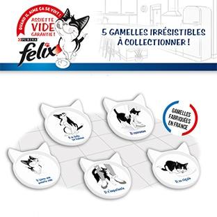 Assiette vide garantie : Gamelles collector Felix offertes