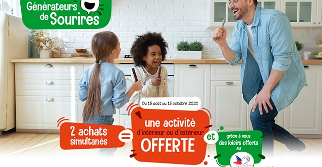 Achetez deux produits Kinder, Délichoc, Nutella et Tic Tac pour obtenir une activité offerte