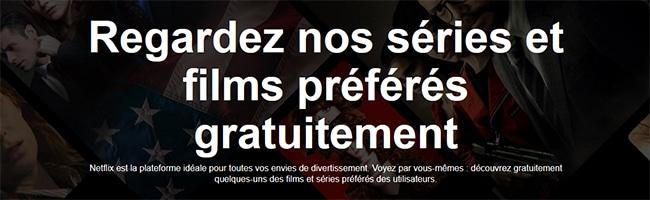Séries et films à regarder gratuitement sur Netflix