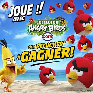Jeu Cora : Peluches Red Angry Birds à gagner