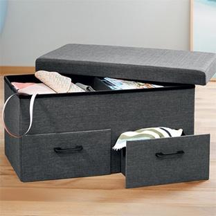 Lidl : Banc coffre à tiroirs Livarno Living pas cher 27,99€