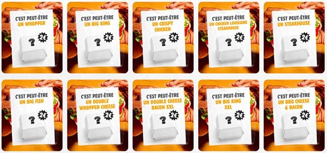la liste des sandwichs à 2 euros