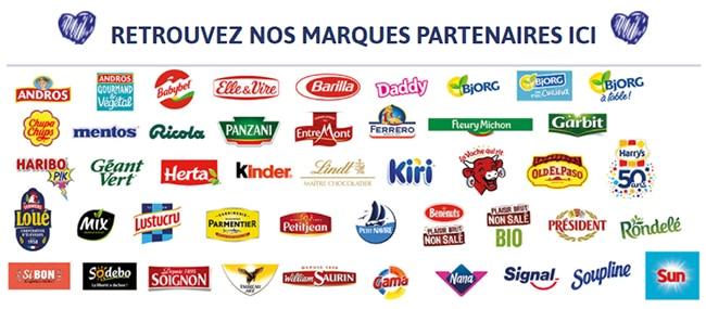 les marques partenaires du concours de la rentrée de Casino