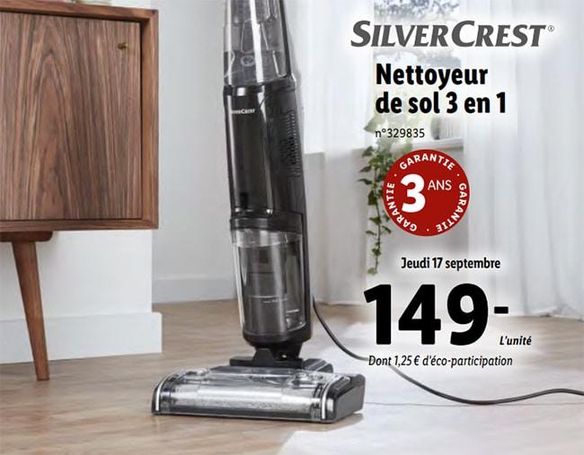 Nettoyeur de sol SilverCrest à petit prix chez Lidl