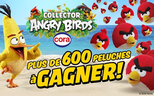 Tentez de gagner une peluche Angry Birds avec Cora