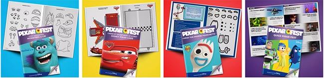livrets d'activités pour enfants Disney Pixar à imprimer gratuitement