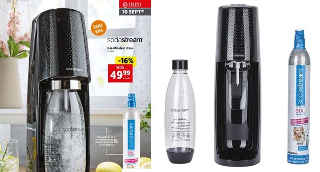 Gazéificateur d'eau Sodastream à petit prix chez Lidl
