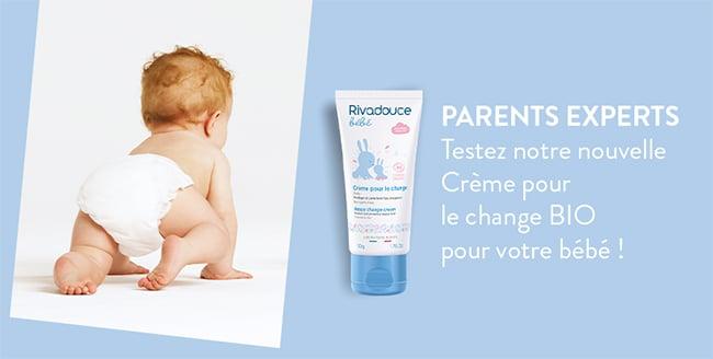 tester gratuitement la crème pour le change bio de Rivadouce Bébé