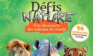 Vignette collector Auchan : jeux de société Défit Nature moins chers