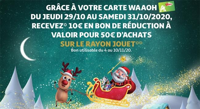 Obtenez un bon de réduction à valoir sur les jouets Auchan