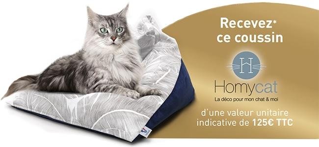 Recevez un pouf offert pour chat avec les croquettes Purina One