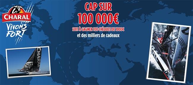 Tentez de remporter un chèque de 1000€, un bon, un porte-clés ou un bonnet Charal