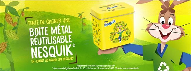 tentez de remporter une boite vintage Nesquik en métal