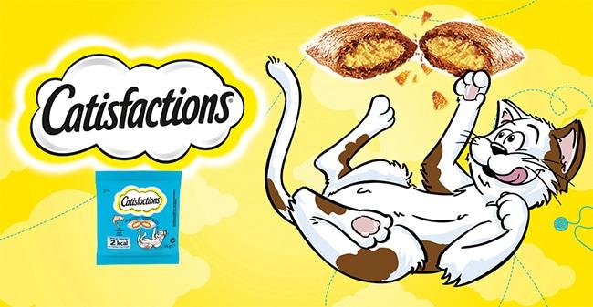 Tentez de tester gratuitement les friandises pour chats Catisfactions avec The Insiders