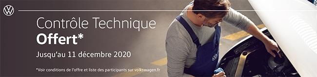 Profitez du contrôle technique offert pour votre véhicule Volkswagen