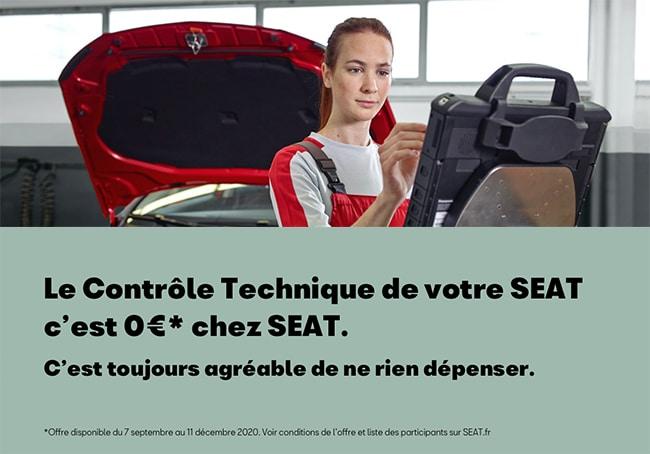 Contrôle technique offert pour les voitures Seat