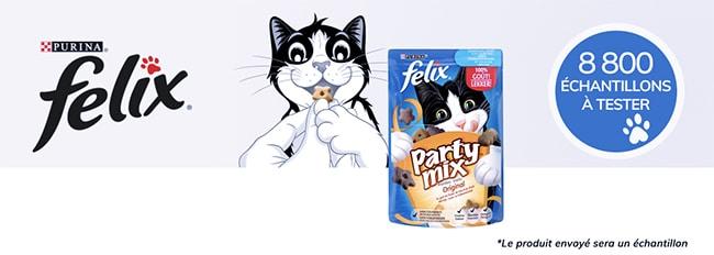 dose d'essai offerte de friandises Party Mix Felix
